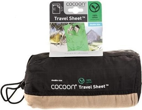 Cocoon Travelsheet Double 100% Cotton - Grey/Blue