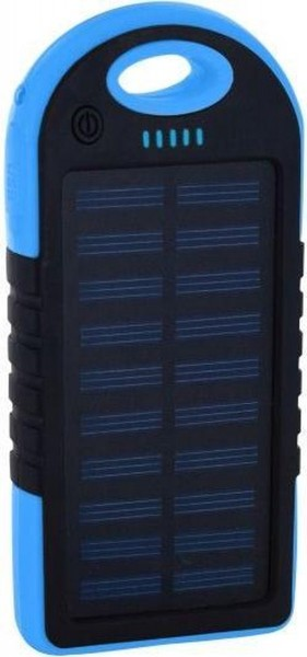 POWERBANK SOLAR - 4000MAH - MET LAMP - IP44 - BLAUW